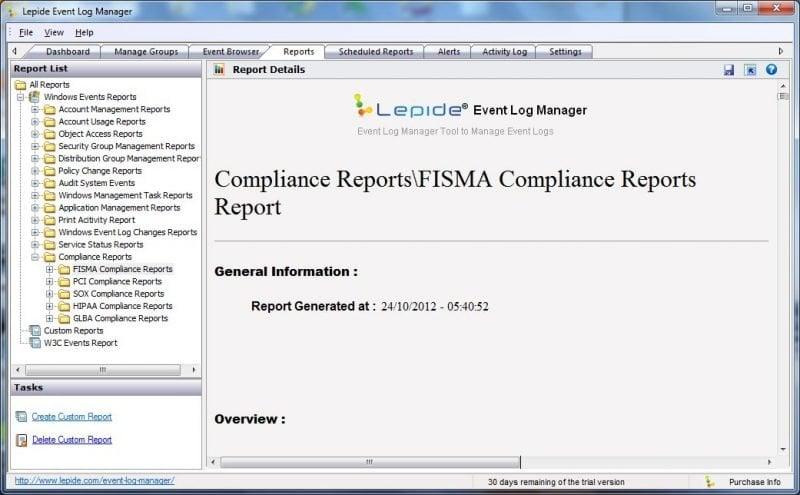 Administrador de registros de eventos: Software gratuito de gestión de registros de eventos 2