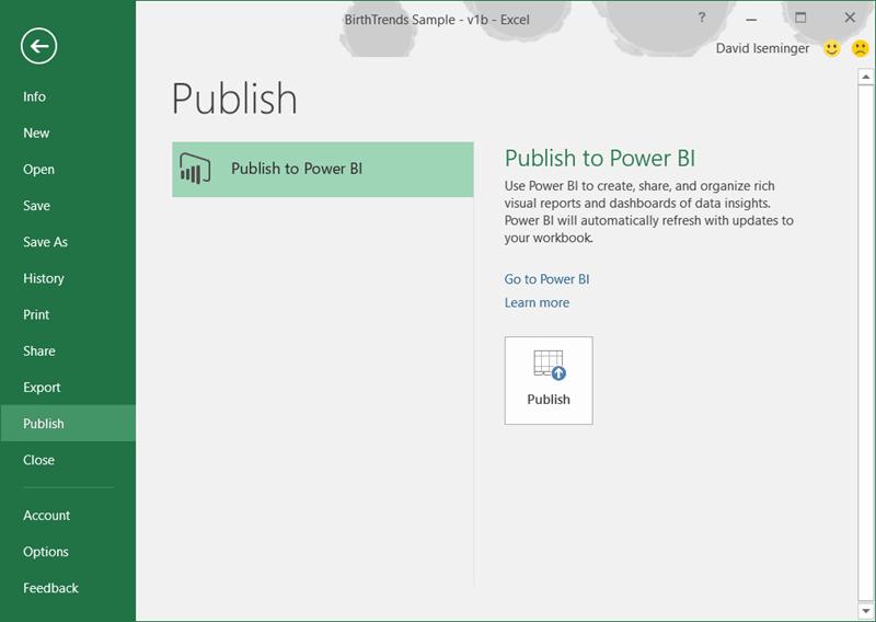 Cómo compartir información de Excel con Power BI Publisher for Excel