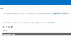 Cómo ampliar la política de retención de correo electrónico para los elementos eliminados de Office 365