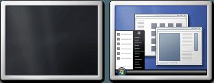 Cómo configurar fácilmente los monitores duales en Windows 7 3