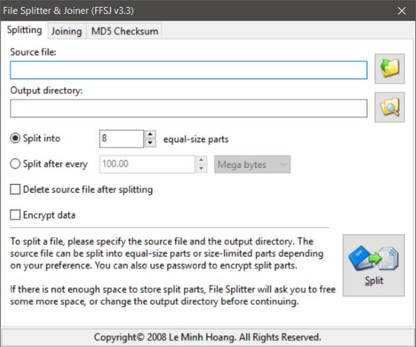 El mejor software gratuito de File Splitter y Joiner para Windows 10 2
