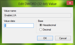 Error 0x80080080015, La activación requiere un nombre de pantalla para estar presente bajo la tecla CLSID