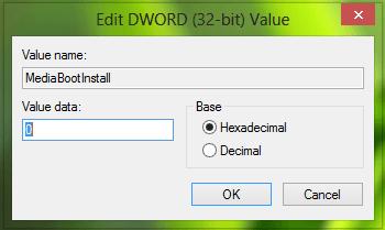 Error 0xC004F061, Incapaz de usar la clave de producto para una instalación limpia 3