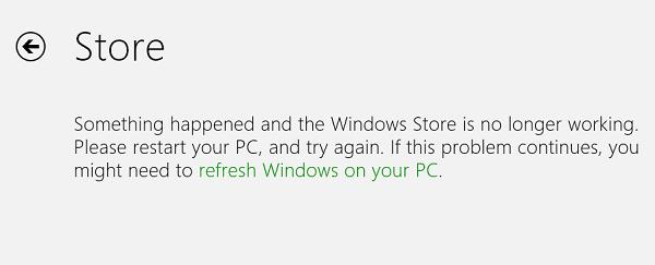 Corrección: Algo pasó y la tienda de Windows ya no funciona. 1