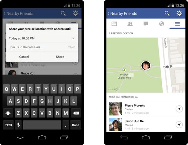 Desactivar Facebook Amigos cercanos alerta y notificación