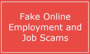 Tenga cuidado con el falso empleo en línea y las estafas laborales