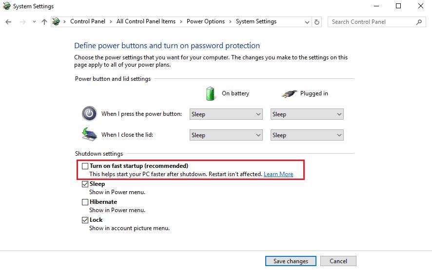Falta la configuración del firmware de UEFI en Windows 10