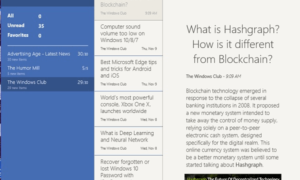 Las mejores aplicaciones gratuitas de RSS Reader Windows Store para Windows 10