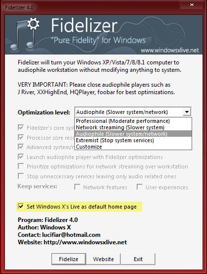 Fidelizador: Convierta Windows en una estación de trabajo audiófila