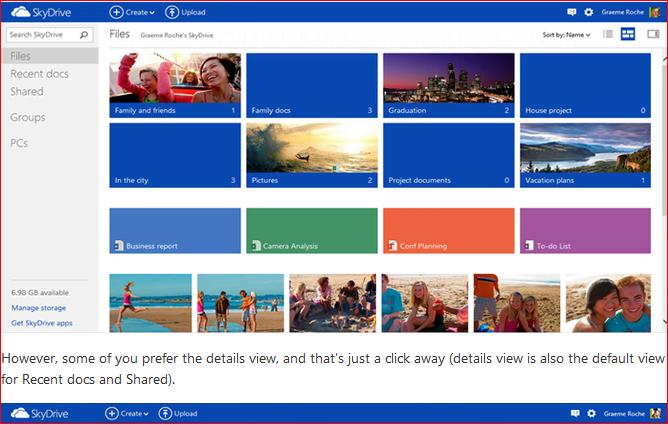 Qué hay de nuevo en SkyDrive - Menús de aspecto y contexto de Metro 1