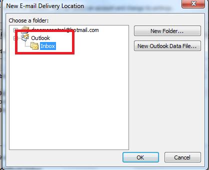 Cómo combinar la bandeja de entrada de Outlook de varias cuentas 3