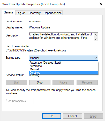 Cómo deshabilitar o bloquear la actualización automática de Windows en Windows 10 3