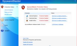 Versión gratuita de Spyware Blaster: Proteja su PC con Windows