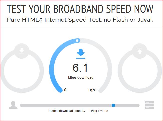 Sitios de prueba de ancho de banda HTML5 gratuitos que no necesitan Flash
