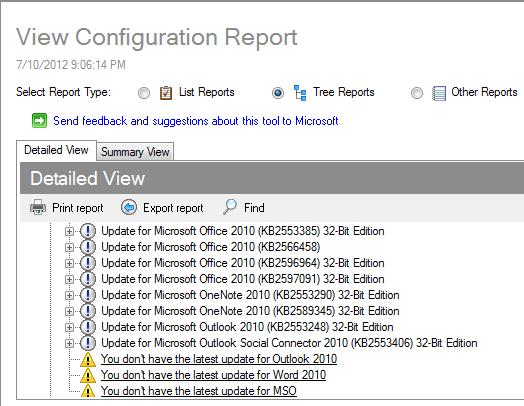 Cómo usar Outlook Configuration Analyzer Tool para solucionar problemas