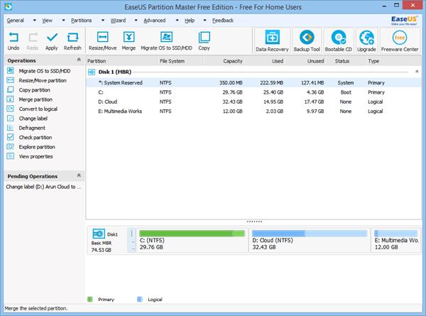 Revisión gratuita de EaseUS Partition Master: Administrador de particiones para PC con Windows