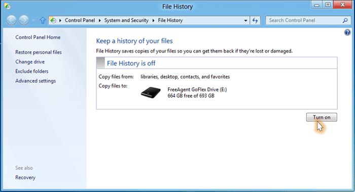Cómo configurar y usar el Historial de archivos en Windows 8 1