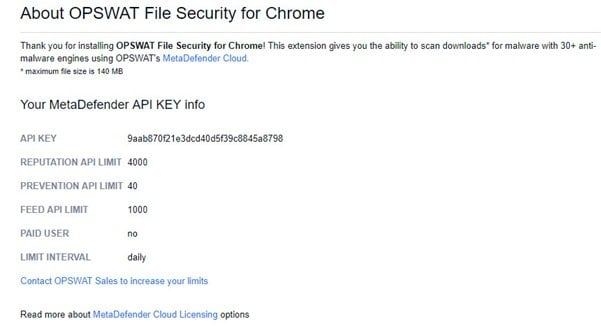 OPSWAT File Security for Chrome analiza los archivos descargados con 30 motores antimalware 2