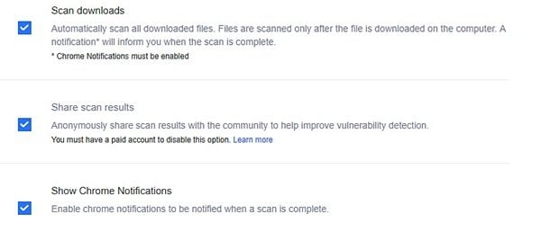 OPSWAT File Security for Chrome analiza los archivos descargados con 30 motores antimalware 6