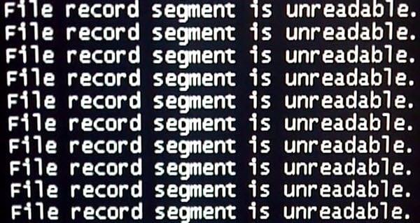 El segmento de registro de archivo es ilegible Error de disco en Windows 10 1