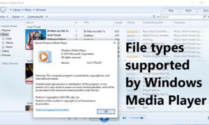 Tipos de archivos compatibles con el Reproductor de Windows Media