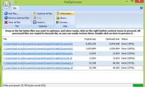 Optimice los archivos con el Optimizador de archivos gratuito para Windows