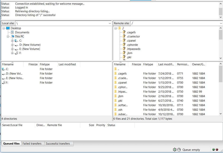 Cómo actualizar archivos en un servidor FTP en Windows 10