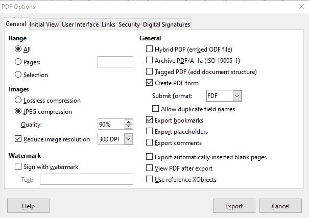 Cómo crear un formulario PDF rellenable en LibreOffice