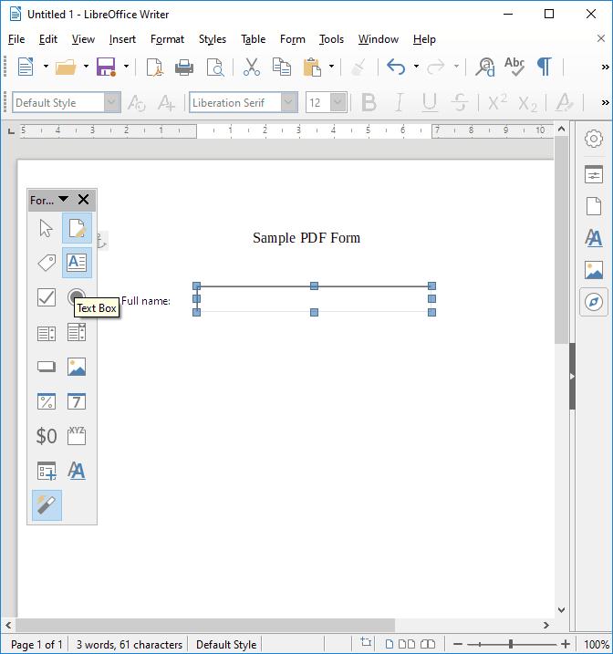 Cómo crear un formulario PDF rellenable en LibreOffice 4