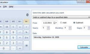 Use Windows Calculator para realizar cálculos de fecha