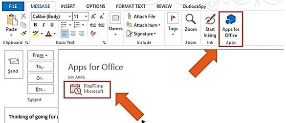 Utilice Microsoft FindTime para programar reuniones más rápidamente en Outlook 1
