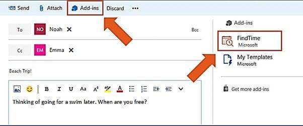 Utilice Microsoft FindTime para programar reuniones más rápidamente en Outlook 3