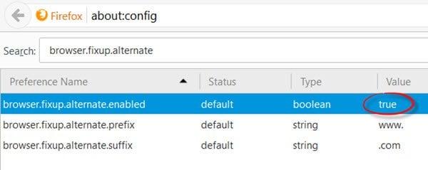 El navegador web añade automáticamente www a la URL