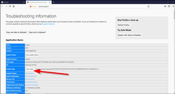Cómo encontrar la carpeta Perfil de Firefox en un PC con Windows 2