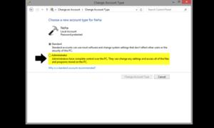 Arreglar: Pérdida de los derechos de administrador en Windows 10/8.1