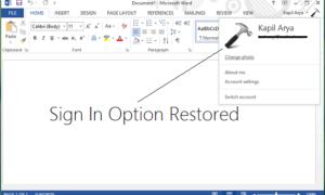 Corrección: La función de inicio de sesión está deshabilitada en Office 2016/2013