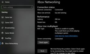 No se puede conectar a Xbox Live; soluciona un problema de redes de Xbox Live en Windows 10