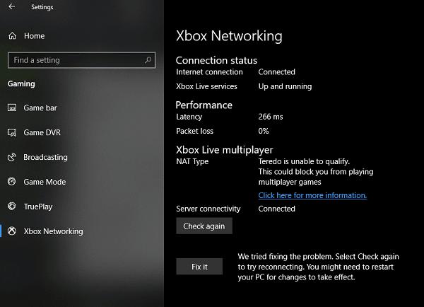 No se puede conectar a Xbox Live; soluciona un problema de redes de Xbox Live en Windows 10 1