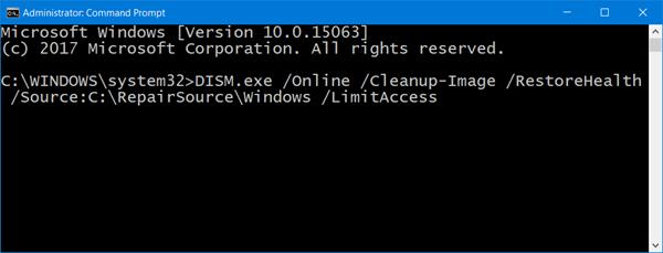 Corrección de archivos de sistema de Windows Update dañados usando la herramienta DISM
