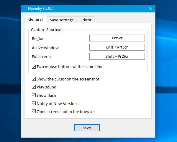 Floomby le permite capturar pantalla y subir archivos para compartirlos directamente
