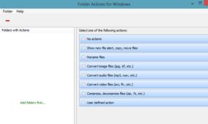 Folder Actions for Windows automatiza la tarea de administrar Archivos en una Carpeta