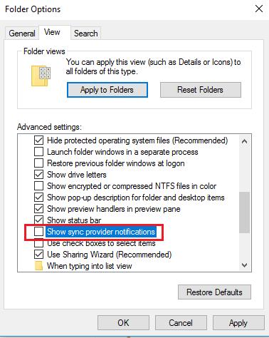 Cómo desactivar los anuncios y notificaciones de OneDrive en el Explorador de archivos de Windows