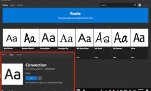 Configuración de fuentes de Windows 10: Cómo descargar fuentes del Microsoft Store