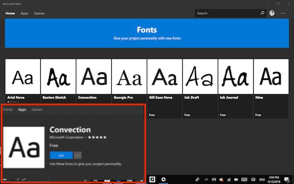 Configuración de fuentes de Windows 10: Cómo descargar fuentes del Microsoft Store 3