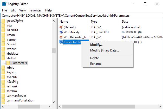 Cómo forzar la pantalla azul de la muerte en Windows 10