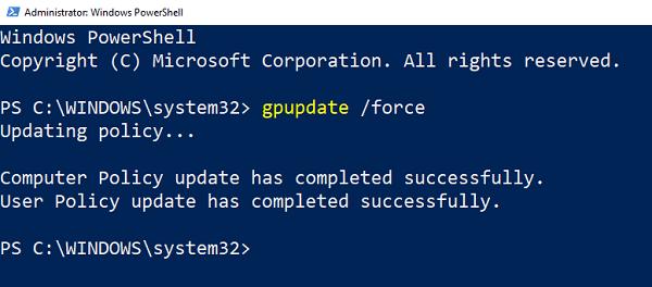 Cómo reparar una directiva de grupo dañada en Windows 10