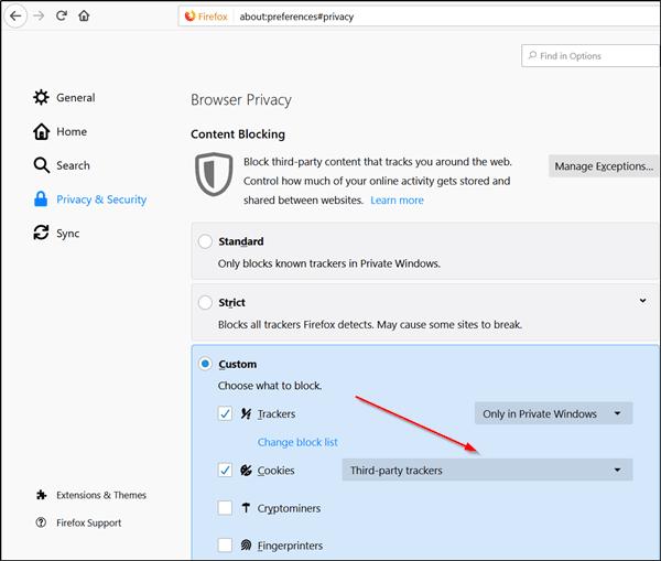 Lockwise, Monitor, Contenedor de Facebook, Protección de seguimiento mejorada en Firefox 1