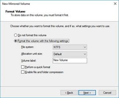 Cómo crear un volumen reflejado para realizar copias de seguridad instantáneas de discos duros en Windows 10