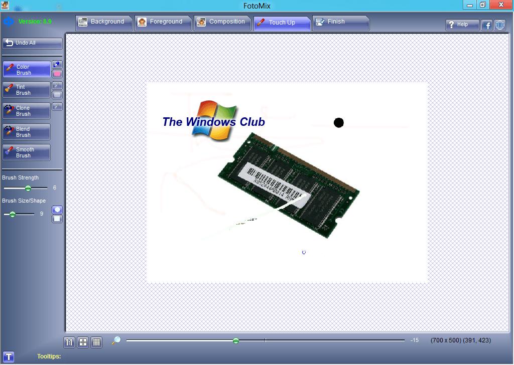 FotoMix: Descarga sencilla y gratuita de software de edición de fotos para Windows