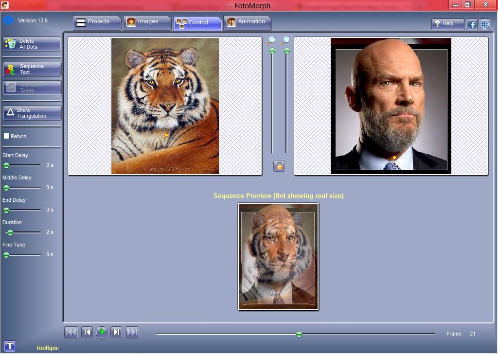 FotoMorph: Software gratuito de Photo Morphing para Windows 1